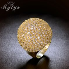 Mytys Pave Setting Crystal Luxury Ring Fashion Gorgeous High Quality Jewelry 2017 New Big Rings R1048 R1049