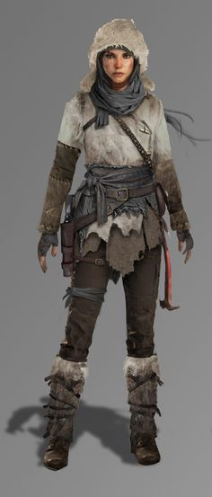 Rise of the Tomb Raider Character Concept, Character Art, Character Design, Larp, Fantasy Characters, Female Characters, Post Apocalypse, Lara Croft Cosplay, Rise Of The Tomb