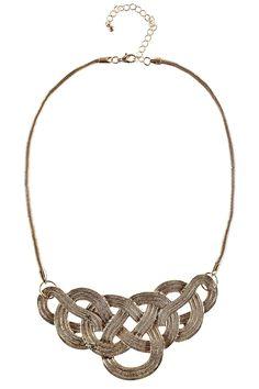 Hazel Twisted Knot Collar Necklace alternative image