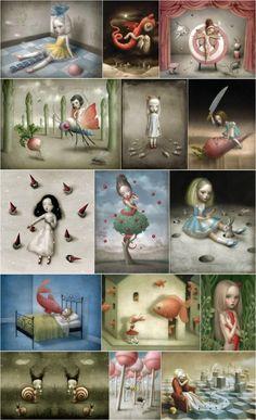 illustrator: Nicoletta Ceccoli – re: fotograficart Arte Lowbrow, Surealism Art, Textile Sculpture, Exotic Art, Candy Art, Baby Room Art, Spirited Art, Pop Surrealism, Art For Art Sake