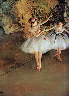 Edgar Degas - Two Dancers  Degas was a French artist famous for his work in painting, sculpture, printmaking and drawing. He is regarded as one of the founders of Impressionism.