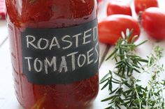 Oven Roasted Tomatoes — Punchfork  chock paint label