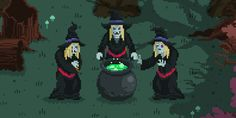 Just, like, some weird old witches makin' green stew or somethin'~
