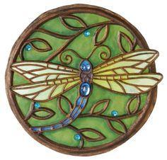 New Creative 25850 Garden Jewels Stepping Stone, Jeweled Dragonfly, 10.75-Inches Diameter (Discontinued by Manufacturer) New Creative http://smile.amazon.com/dp/B002OFBRHO/ref=cm_sw_r_pi_dp_UY1evb19QFT1X