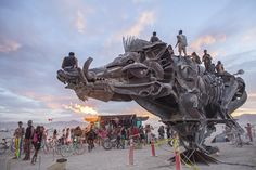National Geographic photographer Aaron Huey went to Burning Man and all he brought back were these awesome photos.