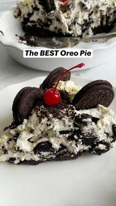 Oreo Dessert Recipes, Fun Baking Recipes, No Bake Desserts, Pie Recipes, Easy Desserts, No Bake Oreo Dessert, Cookie Recipes, Delicious Desserts, Oreo Cheesecake Recipes
