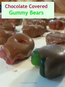 Chocolate Covered Gummy Bears - a strange teenage snack!