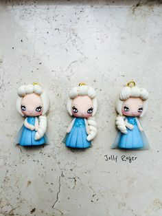 Elsa Frozen polymer clay fimo handmade by me