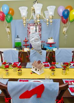 Wizard of Oz Party Ideas - Chair Covers: Wizard of Oz | Double the Fun Parties ®