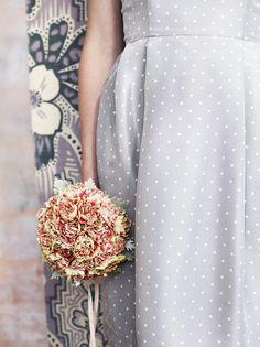 polka dots + floral | #wedding