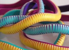 Zipper Cane Bangles  How to.  #Polymer #Clay #Tutorials