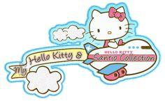 Imágenes brillantes con purpurina de Hello Kitty.