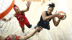 WNBA playoffs 2020 -- Alyssa Thomas plays through pain to put Aces on brink of elimination Bill Laimbeer, Team Success, Shoulder Injuries, Free Throw, Wnba, College Basketball, Long Time Ago, Lynx, Rebounding