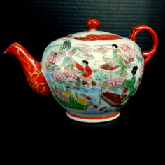 Vintage Oriental GEISHA GIRL Hand Painted JAPANESE Tea Pot