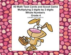 This products has 40 spring themed task cards that provide practice in multiplying 2 digits by 2 digits. The student worksheet and answer key are included. Directions for playing Scoot are also included.Aligned with:CCSS.Math.Content.4.NBT.B.5.The cards can be used in centers, small groups, for homework, and scoot.
