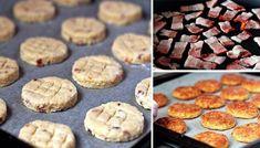 SUROVINY 150 g slanina 260 g hladká mouka 1/2 lžičky prášek do pečiva 1/4 lžičky červená sladká papr Muesli, Nutella, Party Time, Biscuits, Muffin, Brunch, Food And Drink, Appetizers, Bread