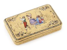 A Swiss gold and enamel snuff box, Charles Magnin, Geneva, circa 1840