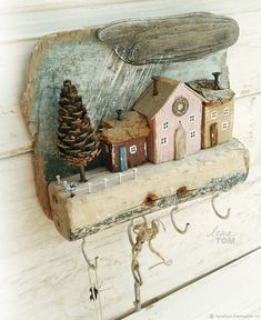 Driftwood Projects, Driftwood Art, Diy Projects, Beach Crafts, Diy And Crafts, Arts And Crafts, Barn Wood Crafts, Wooden Crafts, Pine Cone Crafts