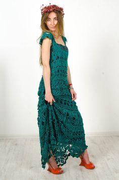 Crochet maxi dress handmade maxi dress by CrochetDressTalita