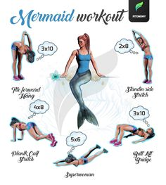 Mermaid workout  Tag friends who want to be mermaids   #Fitonomy