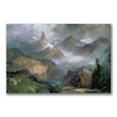 Thomas Moran 'Index Peak Yellowstone' Art