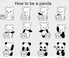 how to be a panda  perfect for a nursery
