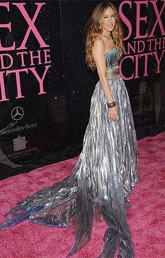 Sarah Jessica Parker: De noche, traje largo