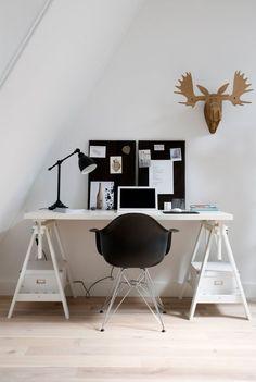 scandinavian functional home office design