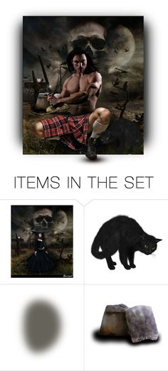 """""""Men in Kilts _ Trick or Treat ?"""" by auntiehelen ❤ liked on Polyvore featuring art"""