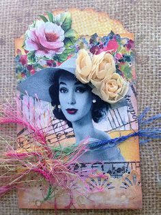 ATC with Black and White Photo | by Donetta's Beaded Treasures