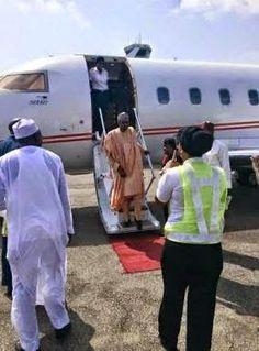 Ekpo Esito Blog: Buhari arrives Abuja to await declaration of resul...