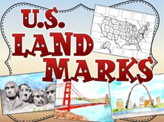 United States Landmarks Activity from The Classroom Key on TeachersNotebook.com -  (14 pages)  - Show your students this PowerPoint presentation about 12 different US landmarks.  Then they cut out pictures of the landmarks and glue them in the correct place on a map.