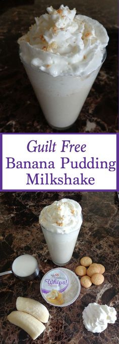 This Banana Pudding Milkshake is not only perfect for breakfast but fab as easy desserts or snack recipes too! It's guilt free and only 5 ingredients!