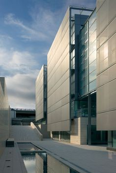 Tripark Las Rozas by Allende Arquitectos // Uses a veil of high-performance fabric membranes supported by a steel frame.