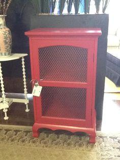 Red Cupboard Mesh Front 23 x 16 Location: Hamilton Categories: Storage $182.40 + tax Item #: 16154