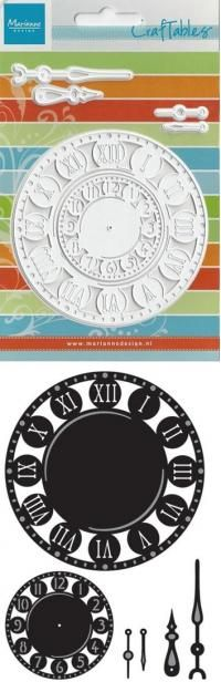Billede: skære/prægeskabelon ur, cr1234, marianne design Fru Hansen 99kr
