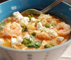peruvian shrimp chowder--this looks so yummy. I'm not a clam fan, so I might have to try this! Peruvian Dishes, Peruvian Cuisine, Peruvian Recipes, Chowder Recipes, Soup Recipes, Cooking Recipes, Healthy Recipes, Yummy Recipes, Yummy Food