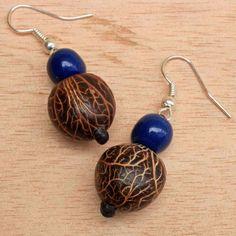 Royal Blue Earrings Dangle Earrings made of by ArtisansintheAndes