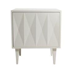 Image of Erinn V. White Diamond Door Side Table