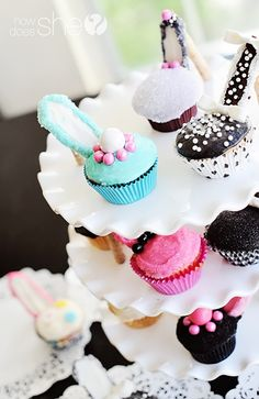 High heel cupcakes-cute!