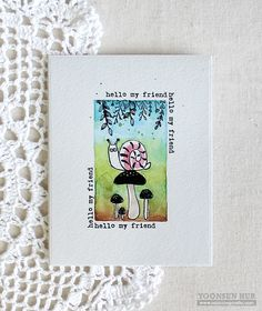 RejoicingCrafts: Simple watercoloured card with the Flora & Fauna Snail Mail stamp set. #watercolor #handmade #card #stamping