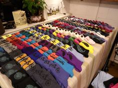 Our sock display at Open Studios