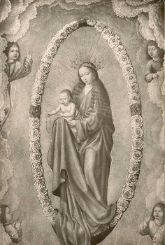 A 15th century painting of Our Lady of the Rosary in the Lazaro Galdiano museum in Madrid