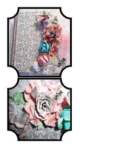 Dimensional Gatefold Scrapbook pages. These are some pages from the sweet little wedding album I listed earlier!