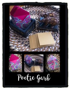 3x3 Mini Envelopes w/Blank Note Cards  Set of 8  by PoeticGarb