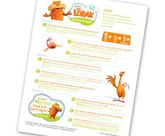 Seuss' The LORAX Scavenger Hunt: Ways to reduce, reuse, recycle Reduce Reuse, Reuse Recycle, Recycling, Dr Seuss, Rainy Day Fun, The Lorax, Photo Printing Services, Activities To Do, Recycled Art