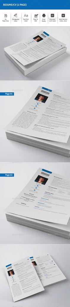 Resume Template Pinterest Template, Modern resume and Cv template
