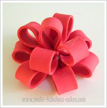 @Amanda Dubinick...I found out how to make a fondant bow! lol!