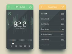 FM Radio UI Designs and Concepts for Inspiration