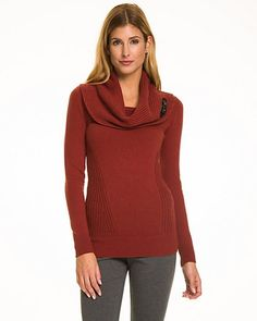 Warm, cozy, and sexy – Wool Blend Cowl Neck Sweater